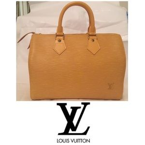 Louis Vuitton Vintage Speedy 30 Epi Leather Yellow